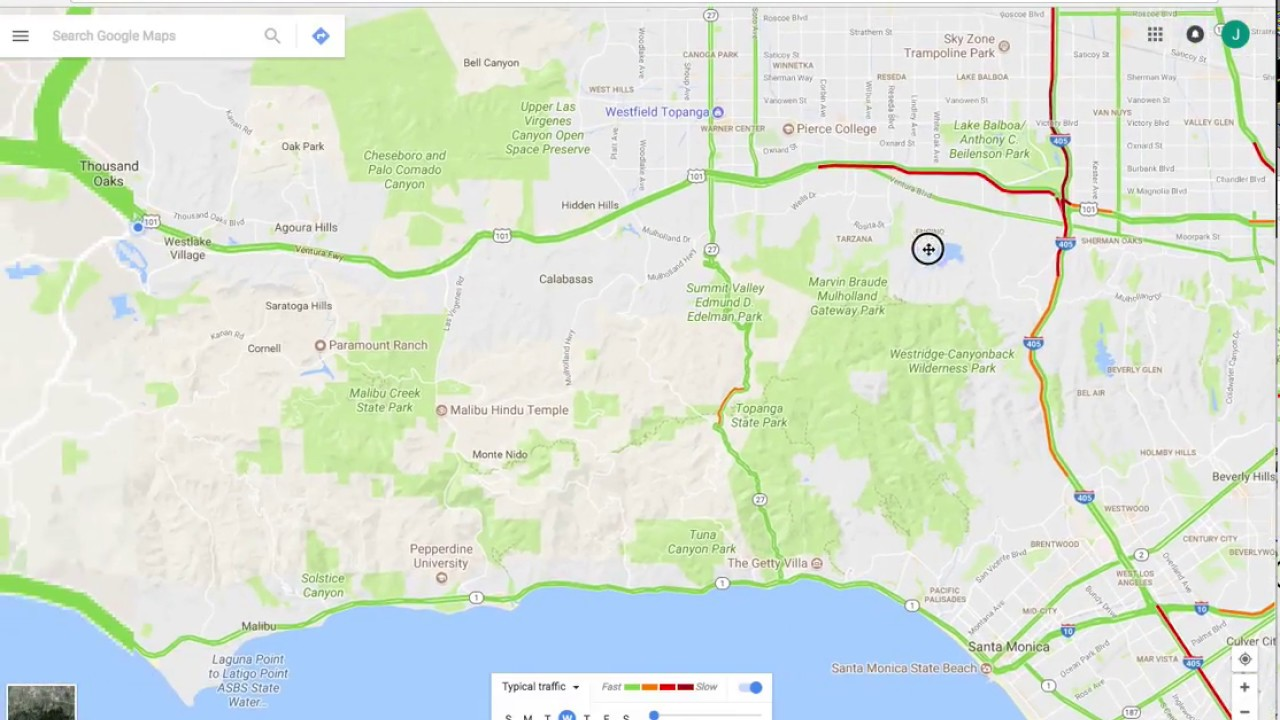 How To Use Google Maps For Los Angeles La Traffic Live And