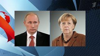 Ситуация в Сирии и Украина стали одними из тем телефонной беседы Владимира Путина и Ангелы Меркель.