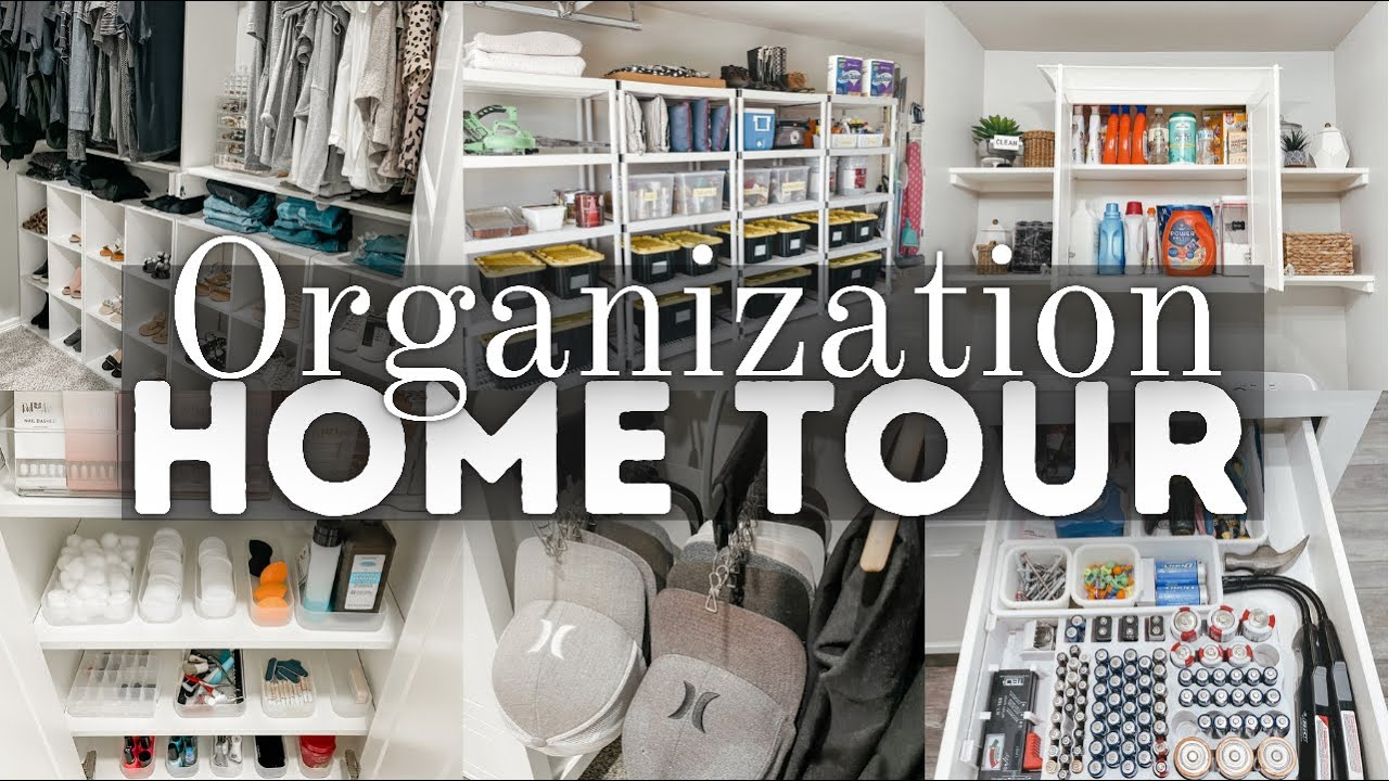 *NEW* ORGANIZATION HOME TOUR 2021   WHOLE HOUSE ORGANIZATION METHODS   HOME ORGANIZATION MOTIVATION