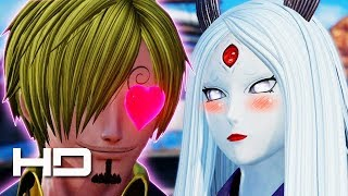 Jump Force - Sanji's Reaction To All Female Characters (Special Interactions & Easter Eggs) Gameplay