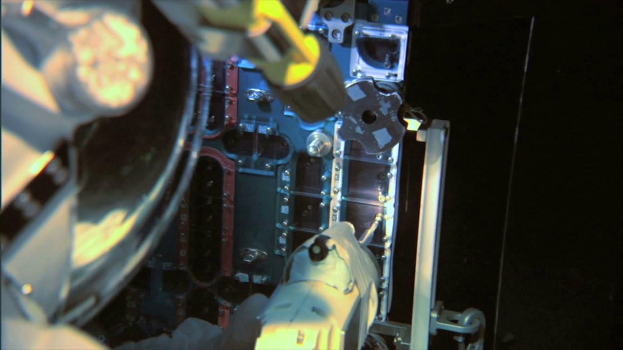 astronaut training to fix panel bkd