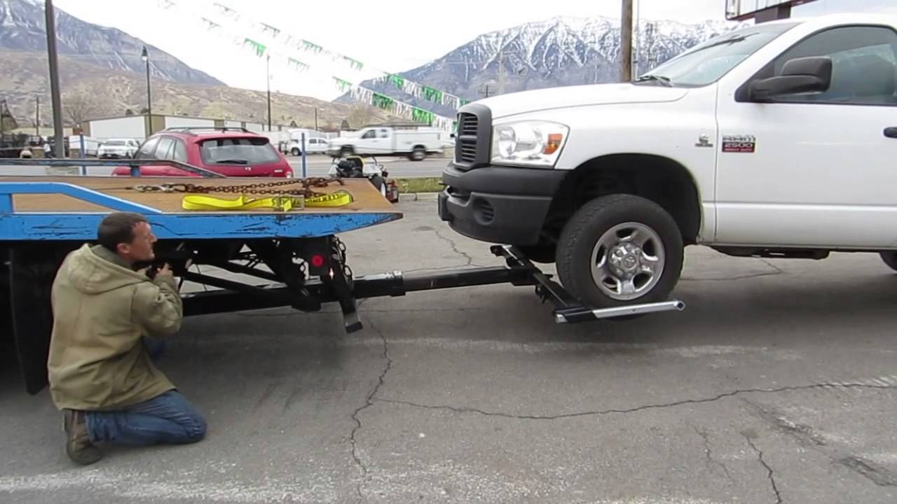 rollback tow truck 2000 international 4700 21 jerr dan wrecker wheel lift low miles 27 800 youtube [ 1280 x 720 Pixel ]