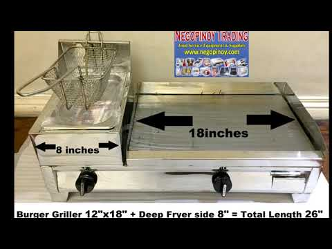 Negopinoy Trading 2 In Burger Griller With Deep Fryer For Sale
