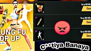 Garena Free Fire Kungfu Emote Event Top Up ||Claim Reward||