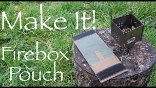 How to Make a Tough Waxed Canvas Pouch for your Folding Twig Stove.