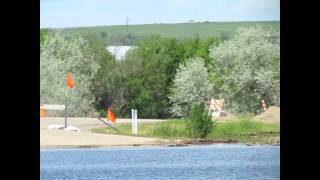 North Dakota Flood 2011 (Video of Little Muddy River in Williston,ND - 135 Ave NW)
