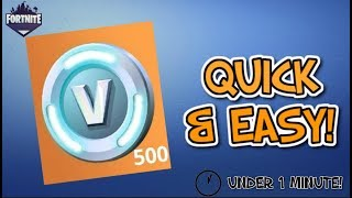 How To Quickly Earn 500 Vbucks In Save The World | Fortnite Save the World Guide