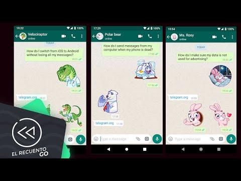 Telegram publica stickers para WhatsApp | El Recuento Go