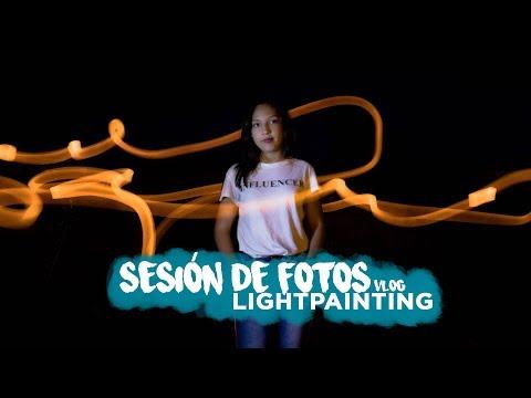 SESIÓN de FOTOS con LIGHTPAINTING - Vlog#2 | VioletaPhoto