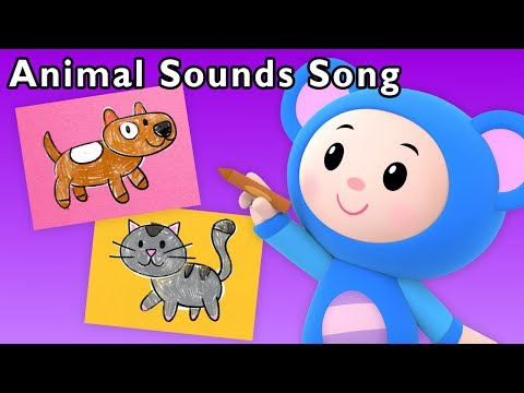 Animal Sounds Song and More | Learn English with Art Mouse | Baby Songs from Mother Goose Club!