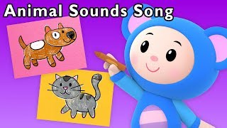 Animal Sounds Song + More | Learn English with Art Mouse | Mother Goose Club Phonics Songs