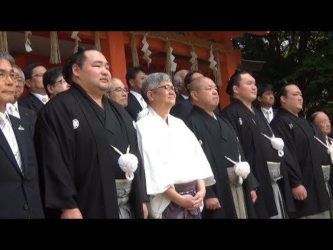 白鵬・鶴竜・稀勢の里が土俵入り奉納 博多の住吉神社