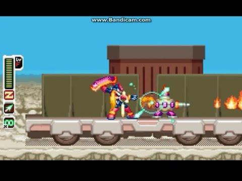 Megaman Zero 4: All Parts & Chips & Ex Skill - Gameplay part 01_Caravan &  Area Zero & Heat G  (mdX)