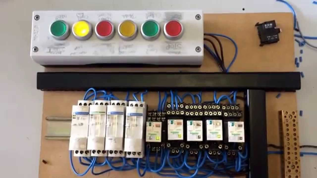 Traffic light circuit relay controlled traffic light circuit  YouTube