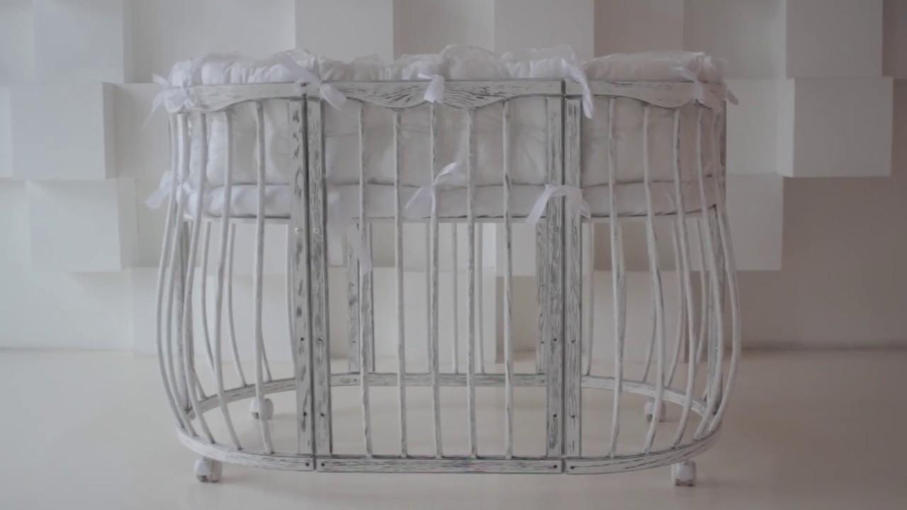 ❤Круглая кроватка трансформер с маятником на все детство с 0 до 9 .