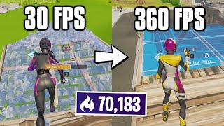 Playing Arena On EVERY FPS In Fortnite! (not clickbait)