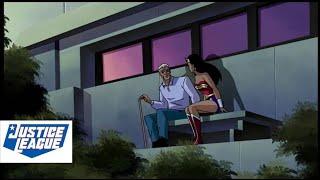 Wonder Woman Meets Old Steve Trevor | Justice League Animated