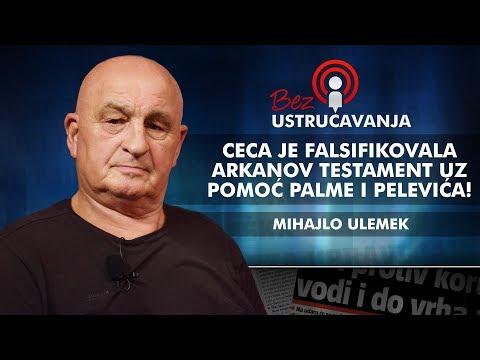 Mihajlo Ulemek - Ceca je falsifikovala Arkanov testament uz pomoć Palme i Pelevića!
