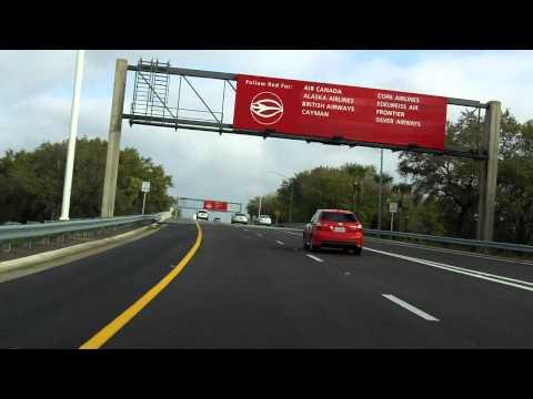 Tampa International Airport Access Road inbound