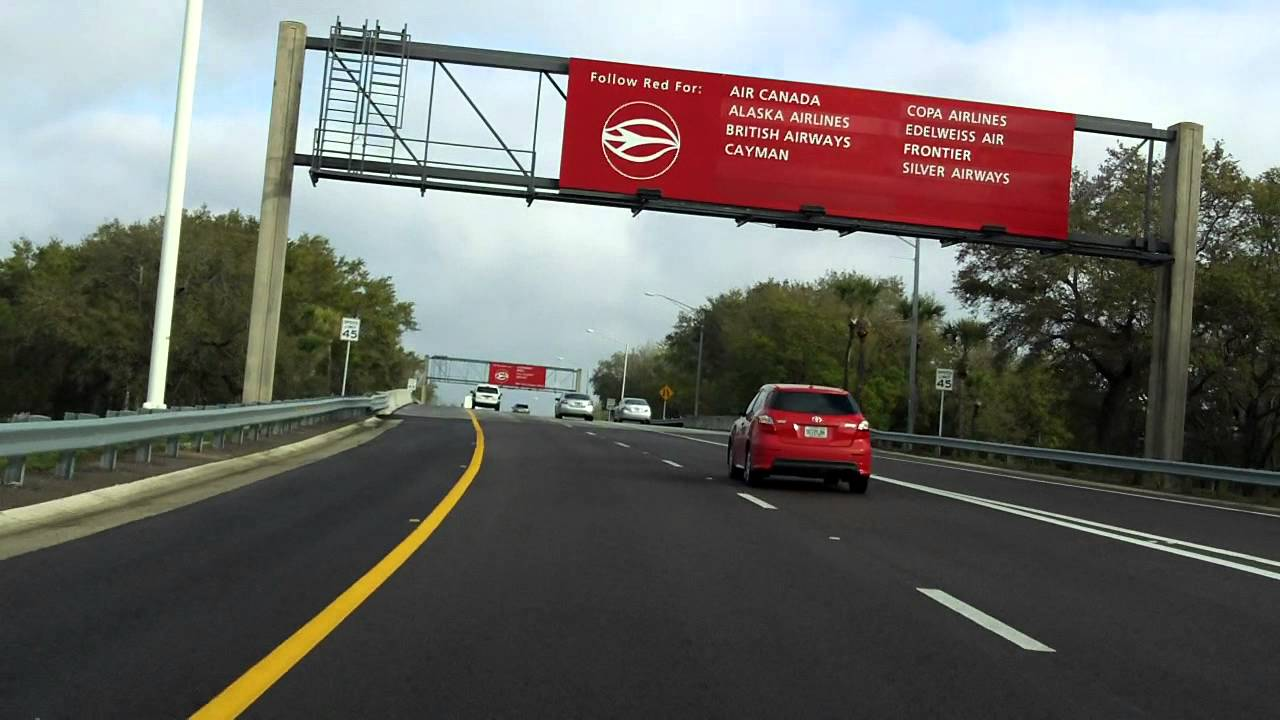 Tampa International Airport Access Road Inbound Youtube