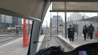 [Tram Cab Ride] Ligne 3 du tramway de Lyon / Meyzieu - Les Panettes ➡ Gare Part-Dieu - Villette