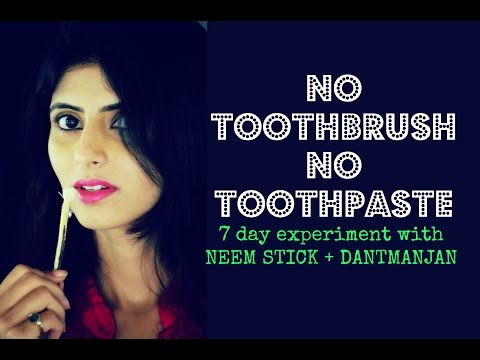 Natural Toothbrush And Toothpaste : 7 day experiment : Neem brush