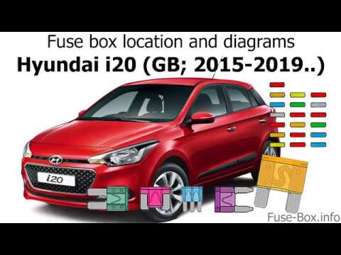 Fuse box location and diagrams: Hyundai i20 (GB; 2015-2019..) - YouTube | Hyundai I20 Fuse Box |  | YouTube