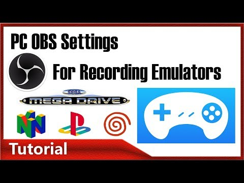 PC OBS setup and tutorial for recording Emulators and screen capture.