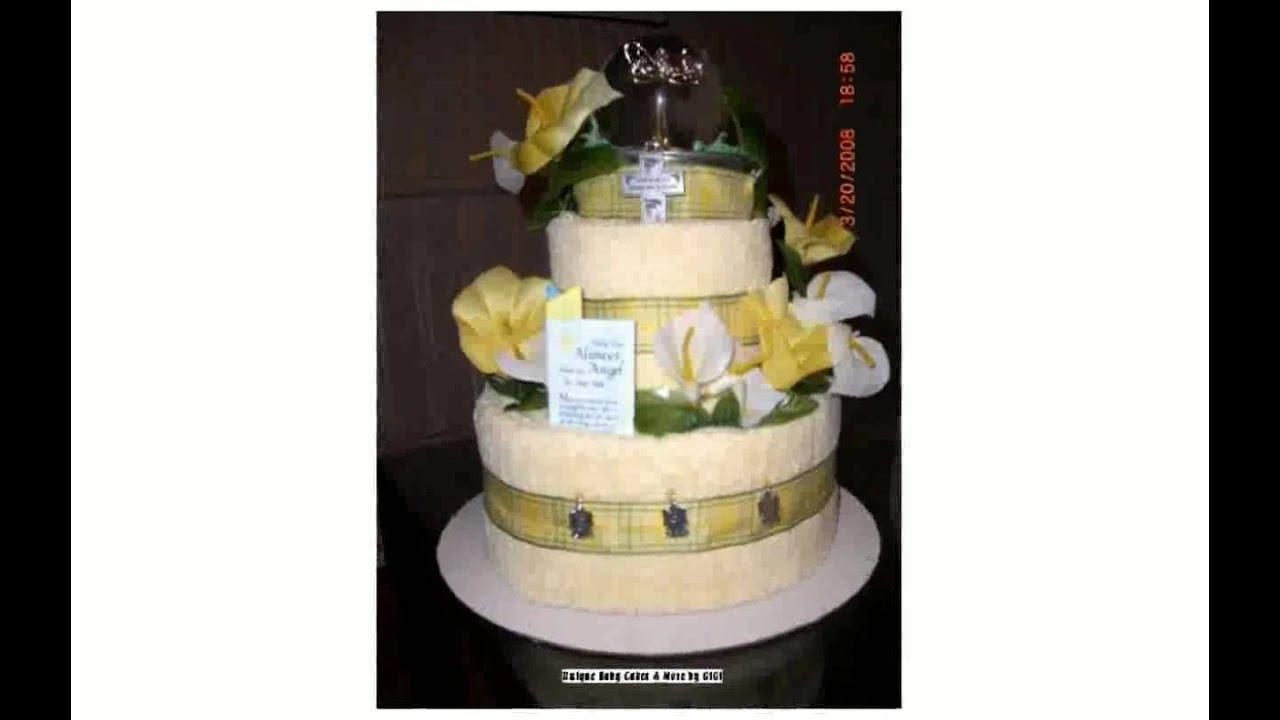How To Make A Towel Wedding Cake Youtube