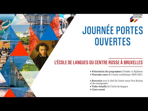 Online Open Doors Day at the Language School of the Russian Centre in Brussels