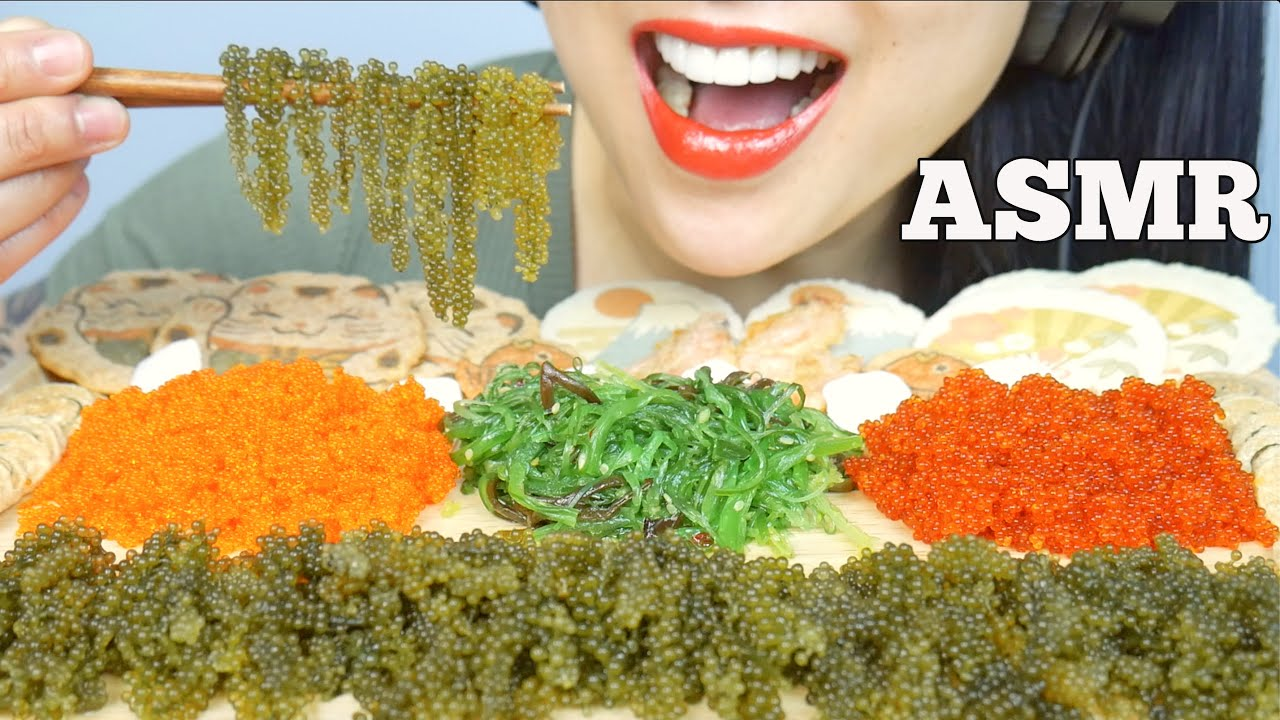 Asmr Extreme Crunch Tobiko Eggs Seagrapes Seaweed Salad Japanese Cracker No Talking Sas Asmr Youtube To make ends meet in canada, she worked as a bartender and a retail. asmr extreme crunch tobiko eggs seagrapes seaweed salad japanese cracker no talking sas asmr