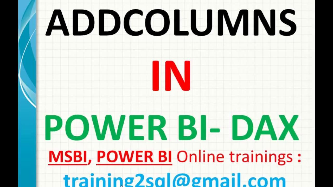 Add Columns in Power BI | Addcolumns in DAX | DAX function add columns