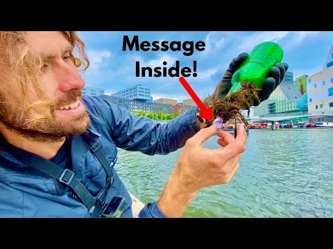 Message in a Bottle Found Magnet Fishing in Amsterdam *Unsolved Sender- Help!*