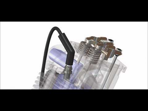 Briggs and Stratton OHV Intek Engine Solidworks Animation