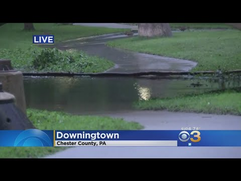 Widespread Flooding In Western Chester County After Heavy Downpours