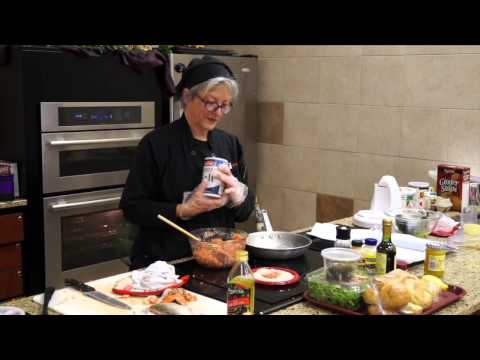 Recipe:   Lemony Salmon Burgers & Romaine, Pink Grapefruit, and Walnut Salad