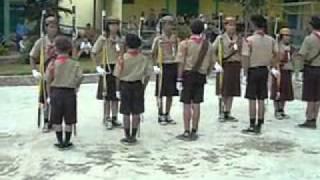 Kolone Tongkat Pramuka Dharmapala SMP N 2 Kota Bengkulu