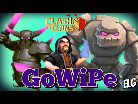 3 Star GoWiPe Attack Strategy Gameplay | Golem Wizards P.E.K.K.A. Raids | Clash of Clans
