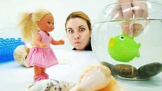 Штеффи в океанариуме. Видео с куклами для девочек
