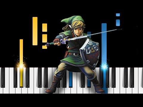 The Legend of Zelda - Ballad of the Goddess - EASY Piano Tutorial - Skyward Sword Main Theme