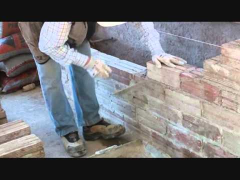 C mo construir una pared con tochana 2 parte video n 99 - Como hacer una jardinera ...
