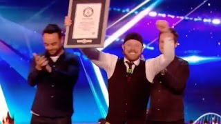 Ryan Tracey Breaks the Guinness World Record with Balloon Blindfolding!   Audition 3   Britain's Got