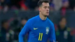 Philippe Coutinho Goal Russia 0 - 2  Brazil 23-03-2018