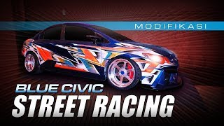 Little Blue Civic Street Racing