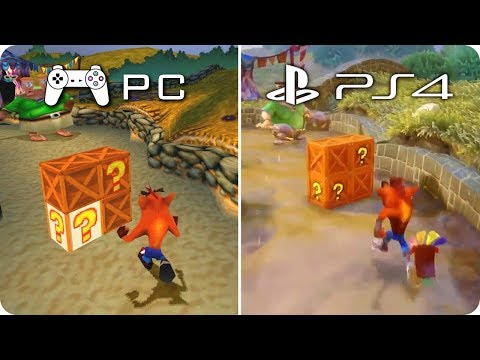 PC/PS4 Graphics Comparison - Crash Bandicoot 3 - PC Emulation PS1 vs PS4 N Sane Trilogy
