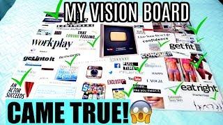 MY VISION BOARD CAME TRUE! | Vision Board Manifesting SUCCESS! 2018