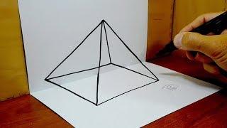 3D Trick Art on Paper, Pyramid