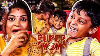 Super Mom Theodan Ultimate ரகளை | VJ Aarthi Ganesh & Son Interview | Zee Tamil, Archana, Zara