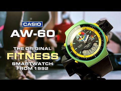 "Casio AW-60 - Their First Digital/analog ""smartwatch"" With Fitness Tracking And Calorie Counting!"