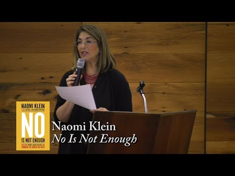 "Naomi Klein, ""No Is Not Enough"""